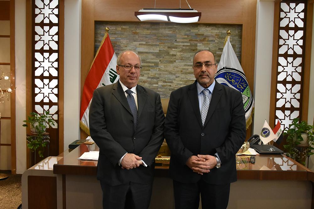 جامعة بغداد تستعد لابرام مجموعة من الاتفاقيات الثقافية مع الجانب اليوناني