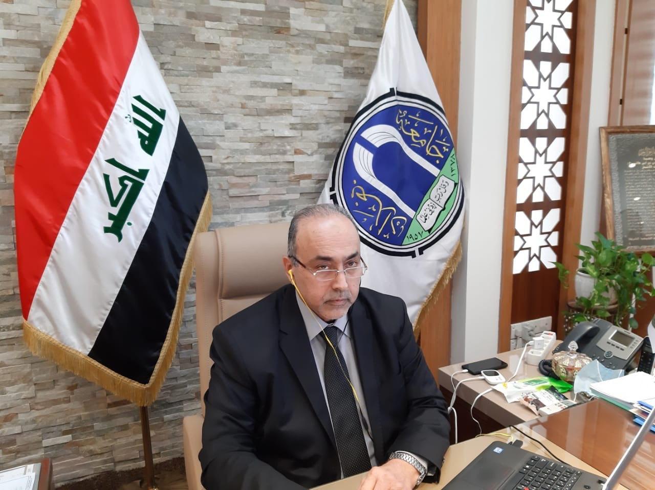 رئيس جامعة بغداد يشارك في مؤتمر تقويمي لجامعة الكرخ للعلوم