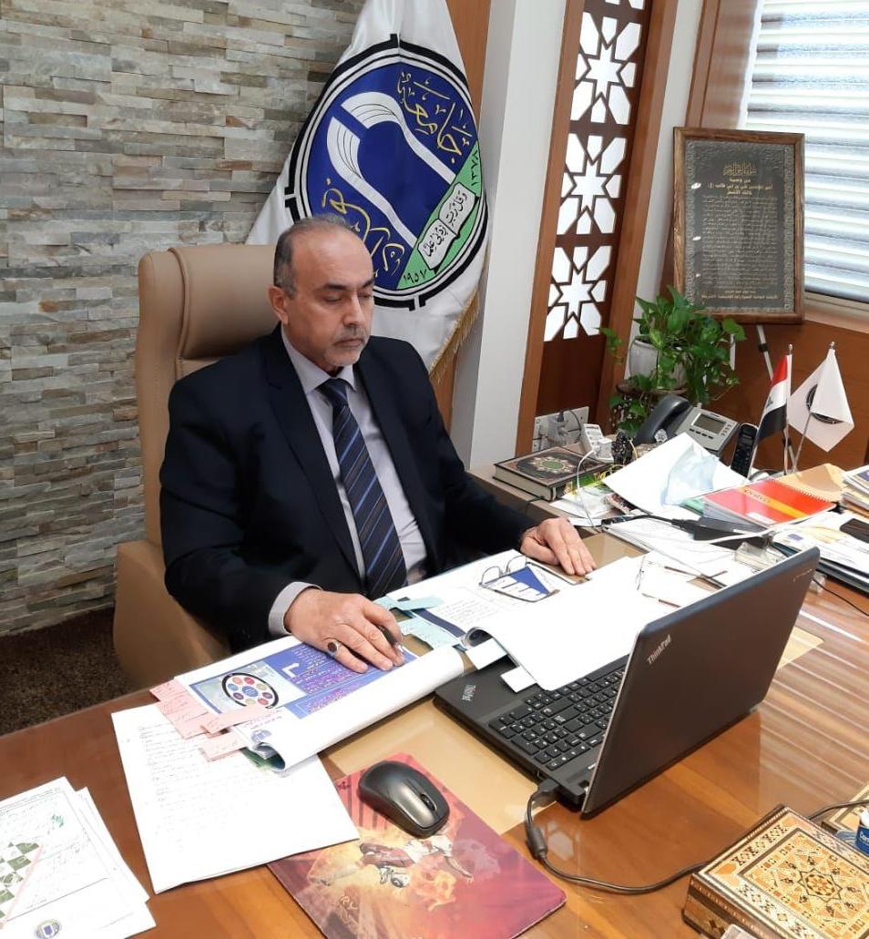 رئيس جامعة بغداد يشارك في المؤتمر الدولي الموسوم الطاولة المستديرة لقادة الجامعات العربية لدعم التعليم الالكتروني
