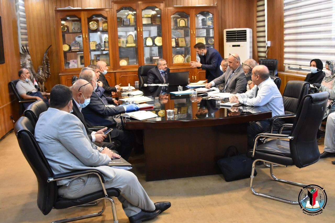 لجنة تطوير حرم جامعة بغداد تعقد اجتماعها الثاني.