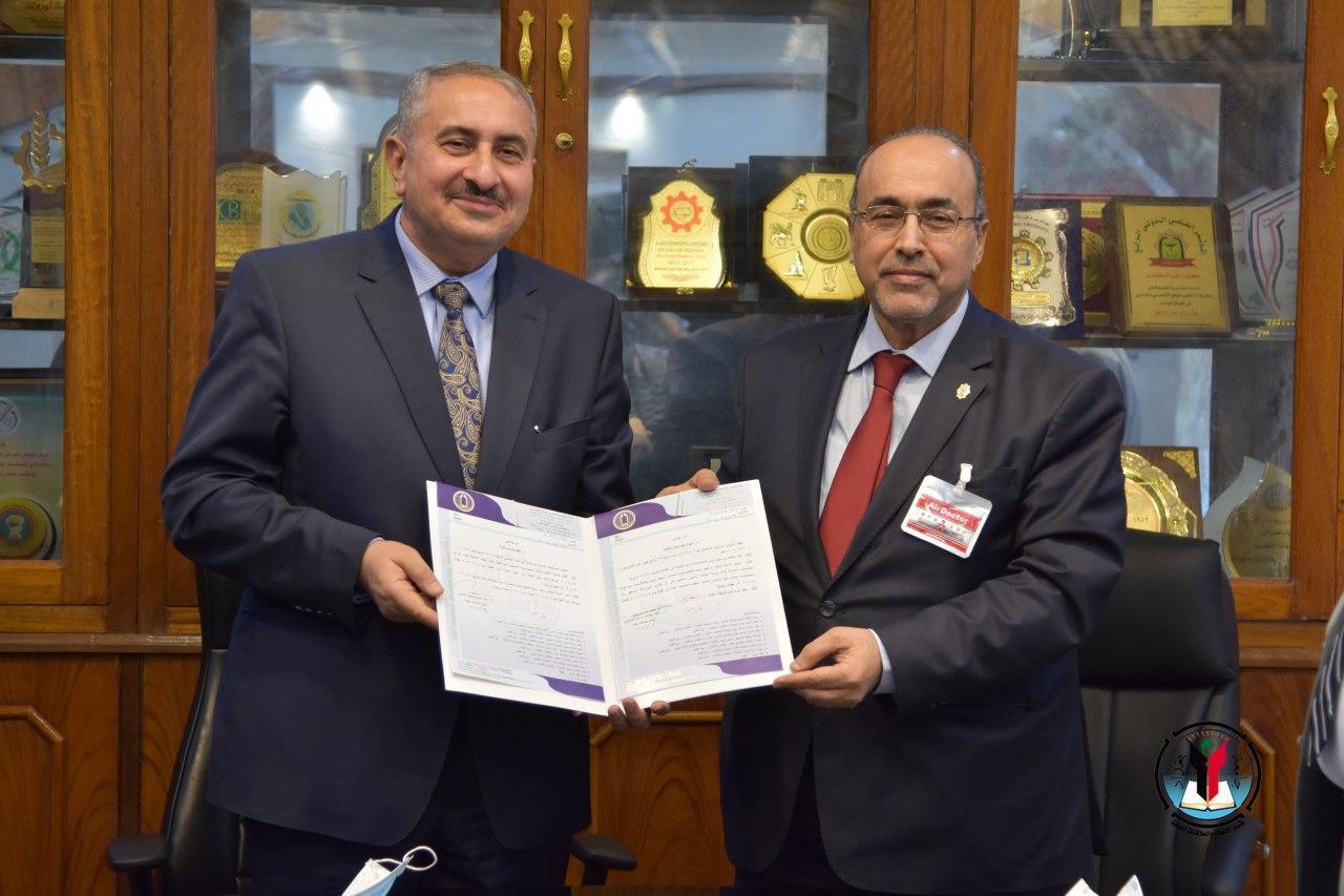 الاستاذ الدكتور منير حميد السعدي يباشر مهامه رئيساً لجامعة بغداد