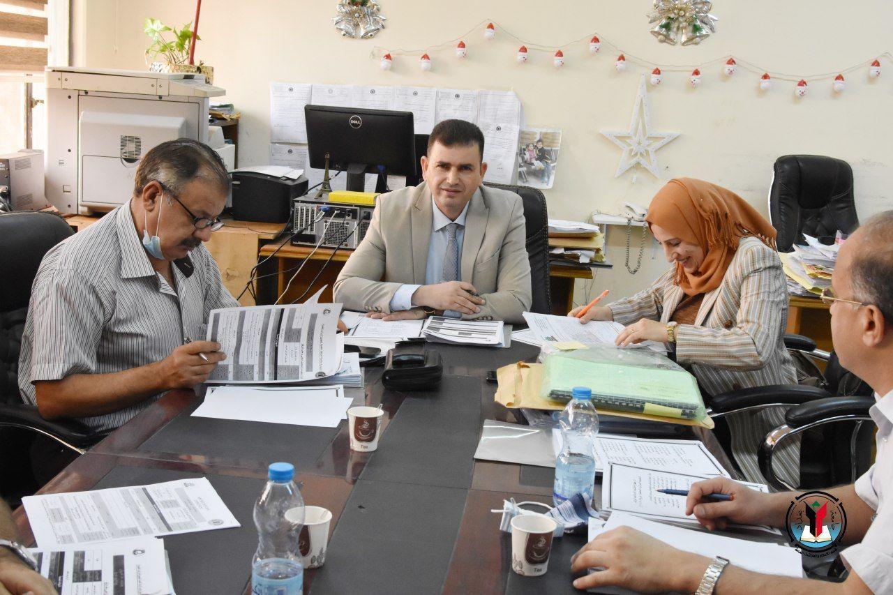 لجنة الترقيات العلمية المركزية في رئاسةت جامعة بغداد تعقد جلستها الثانية للعام الدراسي ٢٠٢٠_ ٢٠٢١